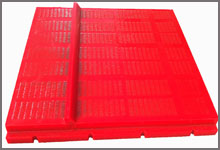Dewatering Panels With Restricted Flow Bars